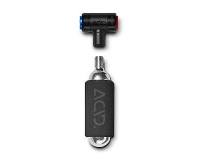 1-C2-TSPDR-V106 Lezyne Pumpe CO2 Twin Speed Drive Silber-Gl/änzend 16g