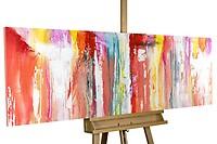 Acryl schilderen 'Stromende veiligheid' 150x50cm