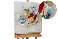 Acryl schilderen 'Rebellie van kleuren' 60x60cm