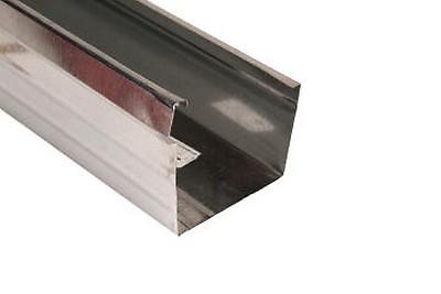 Galvanized Steel Square Gutter 75mm X 100mm X 6m Premier