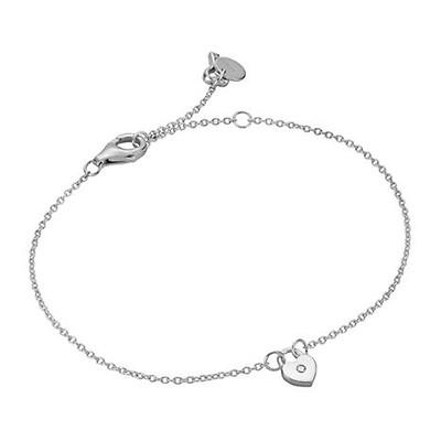 Esprit Damen Armband Herz Feel Mesh Edelstahl Silber weiß 21,5 cm ESBR00912117