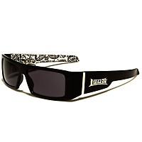 Shop Tetuan Locs Bandana Pattern Sunglasses wht blk Shop Tetuan 68852fdf18
