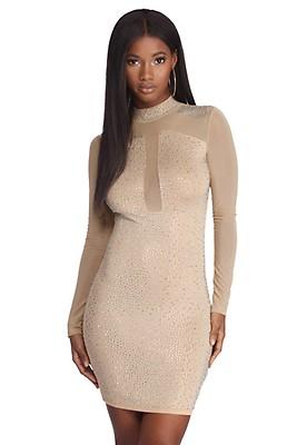 b1742a48 Black Glitter Infusion Mini Dress