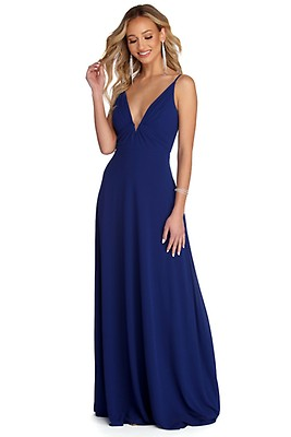 518c428c004b Alina Burgundy Formal Sleeveless Chiffon Dress