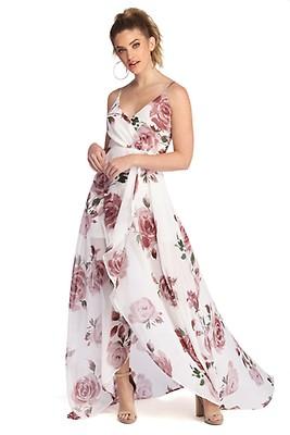 bc3dc104640 Zara Ivory Formal Rose Chiffon Dress