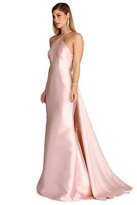 6e58e26d6f Jasmine Embellished Satin Mermaid Dress