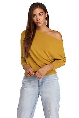 1d7cebe88c194 Black Soften Up Off Shoulder Sweater