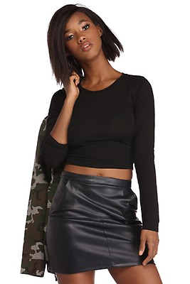 a4545ef17b Black Comfy And Cozy PJ Crop Top