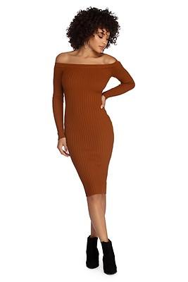 a8ac468cf96e FINAL SALE- Spiced Up Knit Midi Dress