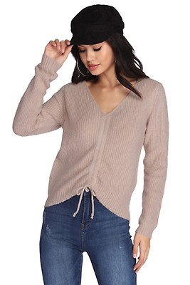 e1a28b3960f5 FINAL SALE- All About Knit Fuzzy Sweater