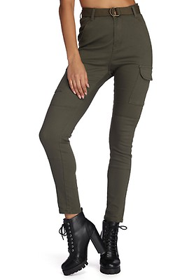 3f623fab00d3f FINAL SALE- Belted Skinny Cargo Pants