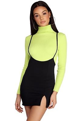 91e519bca2db Black Intellectual Suspender Mini Skirt