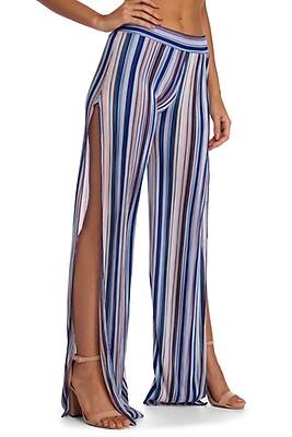 166db2fea FINAL SALE- Stylish In Stripes Wide Leg Pants