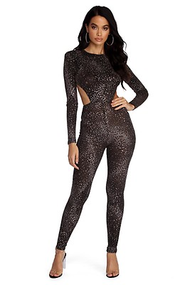 f73b33e04063 FINAL SALE- Life Of The Party Metallic Jumpsuit