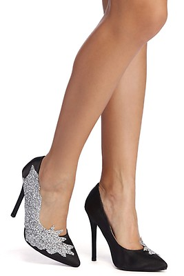 22907ccae7b Miss Diva Black Fishnet Stiletto Pumps