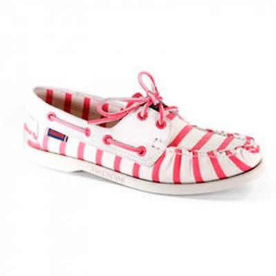 8a07bee205e Chaussures bateau femme Docksides Sebago Armorlux - blanc rose
