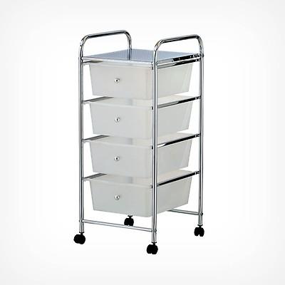 White 15 Drawer Storage Trolley Vonhaus