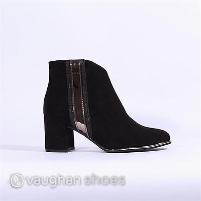 4858677a2d41 Marco Tozzi Metallic Strip Ankle Boot - Black Combi