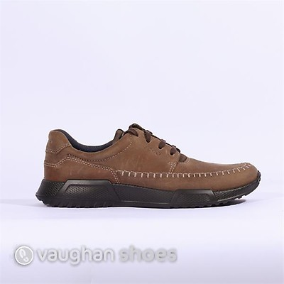 d2b6bd872cb ECCO CASUAL LACED SHOE WITH STITCHING - Camel
