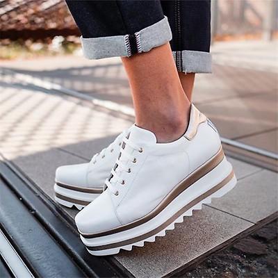 a8617cbf6bd Marco Moreo Luna Laced Platform Shoe - White