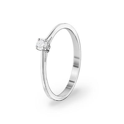 Verlobungsring 750 18 K Weissgold Mit Diamant 0 14 Ct H Si Online