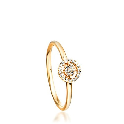 023d05081 Astley Clarke 14ct Yellow Gold Mini Diamond Icon Aura Ring