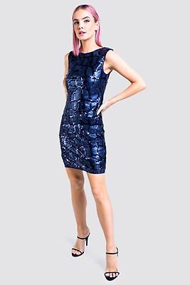 a91ede0a2ab7 Parisian Silvrig Paljettklänning - Nightspot | madlady.se