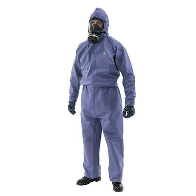 White Ex-Pro Disposable Protective Overall Coverall Suit Polypropylene Light Duty