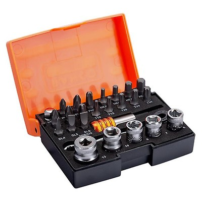 Bahco S160 S160 Socket Set 16-Piece 1//4-Inch Drive