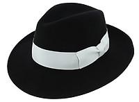 9cb0fee2987da Chapeau Fedora Vanador Feutre Laine Noir Imperméable - Traclet