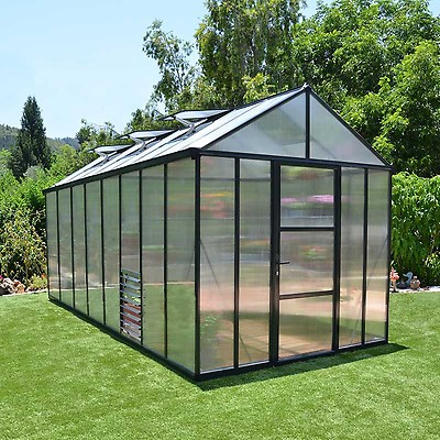 8x8 Palram Glory Greenhouse | Buy Sheds Direct