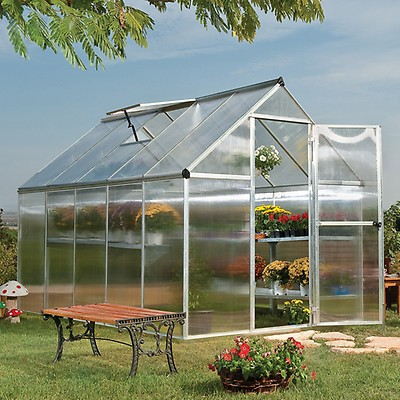 6X8 Greenhouse - Polycarbonate & Aluminum | Buy Sheds Direct