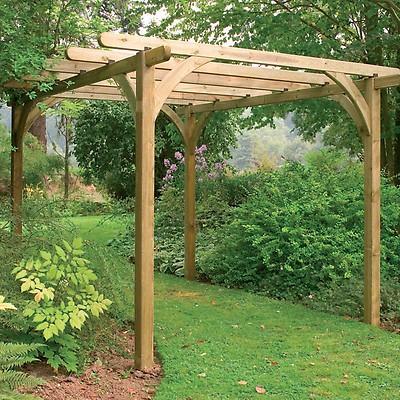 Forest Ultima Wooden Garden Pergola Kit ... - Garden Pergolas Wooden Pergola Kits Buy Sheds Direct