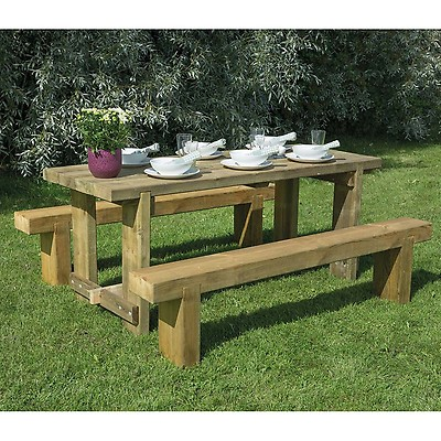 81fde3a01736 Forest Rosedene 8 Seater Wooden Garden Table and Chairs Dining Set ...