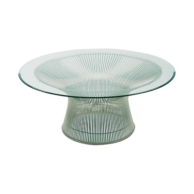 Table Basse Ovale Marbre Arabescato 107cm Knoll The Conran Shop