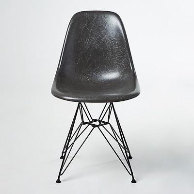 Chaise Eiffel DSR Fiberglass Coque Eames Elephant Grey