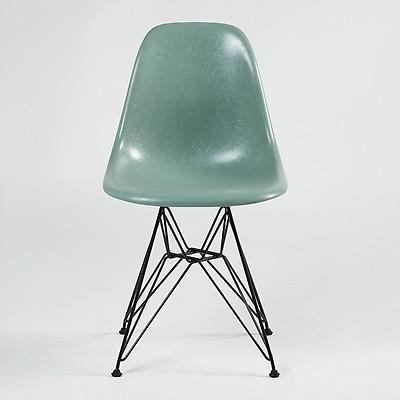 Chaise Eiffel DSR Fiberglass Coque Eames Sea Foam Green