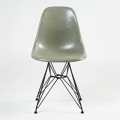 Chaise Eiffel DSR Fiberglass Coque Eames Raw Umber